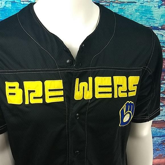 True Fan Other - BREWERS black MLB team jersey by True Fan